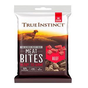 True Instinct Freeze-Dried Beef Meat Bites Dog Treats 20g