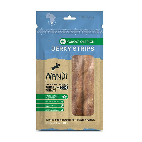 Nandi Ostrich Jerky Strips for Dogs