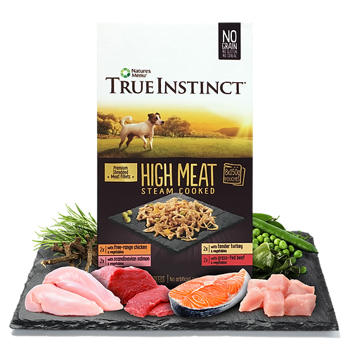 True Instinct High Meat Fillet Pouch Small Breed Dog Multipack