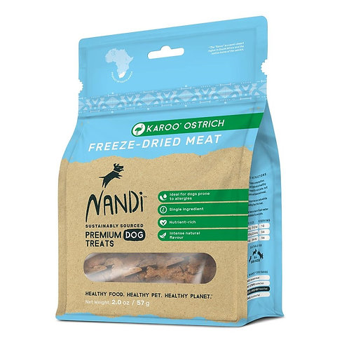 Nandi Freeze-Dried Meat for Dogs (Ostrich)