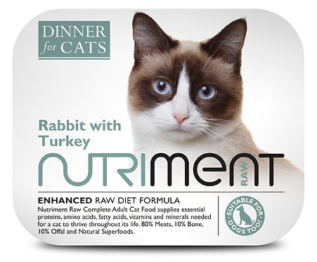 Nutriment Dinner For Cats - Rabbit & Turkey (175g)