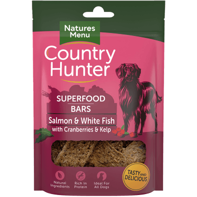 N/M Country Hunter Superfood Bars Salmon & White Fish with Cranberries & Kelp