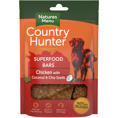 N/M Country Hunter Superfood Bars Chicken with Coconut & Chia Seeds