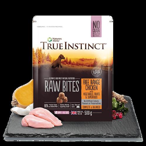 True Instinct Puppy Raw Bites Selected Chicken 500g