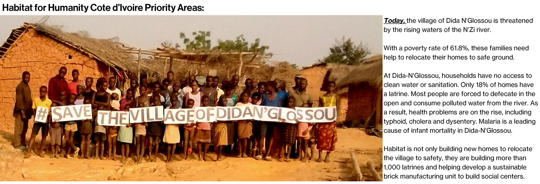 Cote d'Ivoire current project with text.