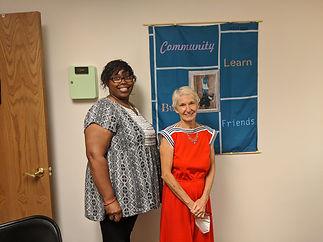 HBC grad - Tenesha with mentor Marti Pro