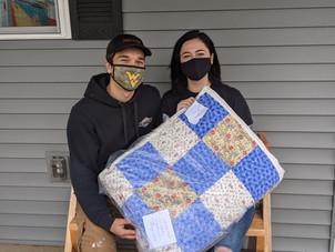 Mike & Akira quilt gift from Dekorra Lut