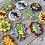 Thumbnail: Zap Pow Wham Boom 1 Dozen Custom Decorated Cookies Batman TV Retro