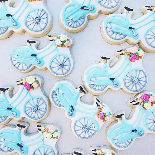 Bicycles and Baskets cookies