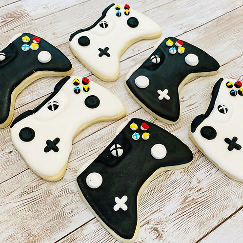 Video Game Controller X Box 1 Dozen Custom Decorated Cookies