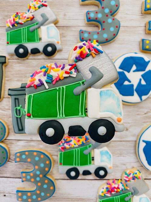 Trash Trucks Oscar Grouch Custom Decorated Cookies 1 Dozen