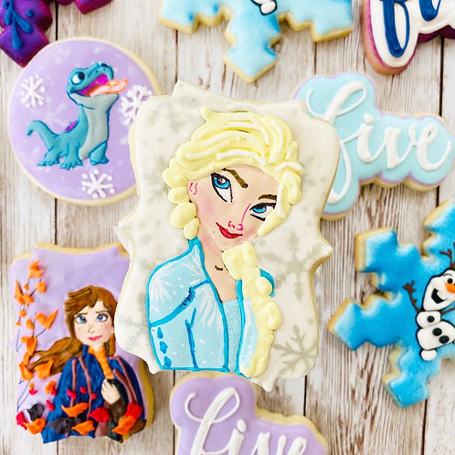 Frozen Anna Elsa Olaf 1 Dozen Custom Decorated Cookies Cookies Holiday Party
