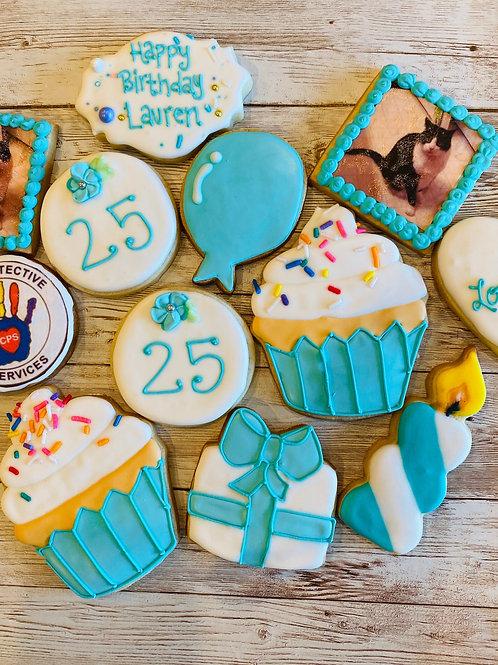 Tiffany Blue birthday cookies
