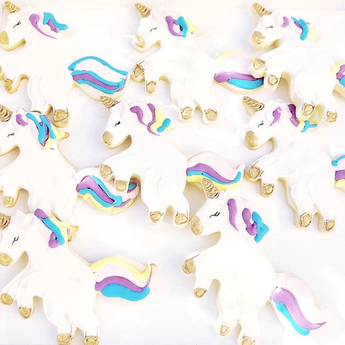 Unicorn Birthday cookies
