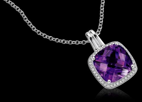 Item 2- Deep Purple Amethyst & Diamond N