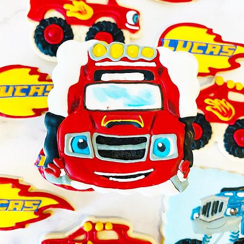 Blaze and the Monster Machines Decorated Cookies 1 Dozen AJ Sharla Pickle Zeg