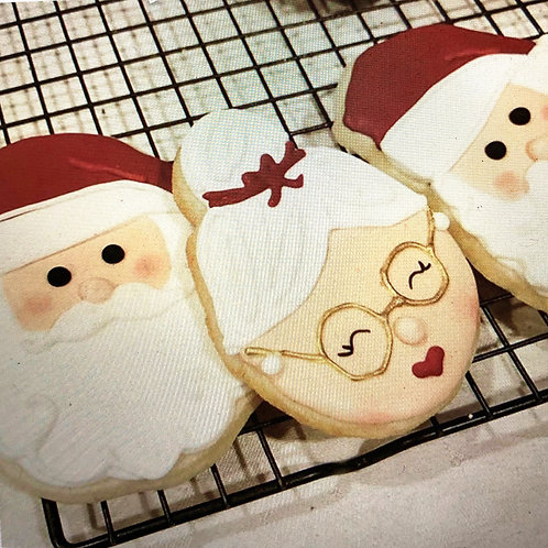Mr. and Mrs. Claus cookies