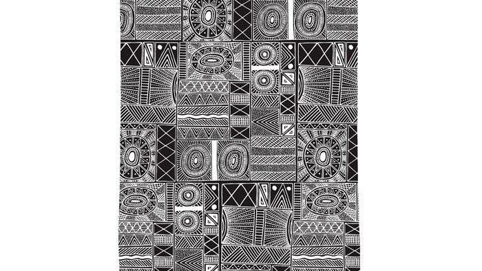 Tea Towel Fiona Puruntatameri -Munupi Arts & Craft Association (Tiwi Islands).