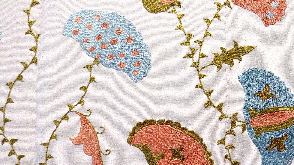 Vase of flowers suzani embroidery