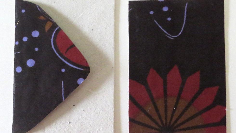 Flower African Fabric Card