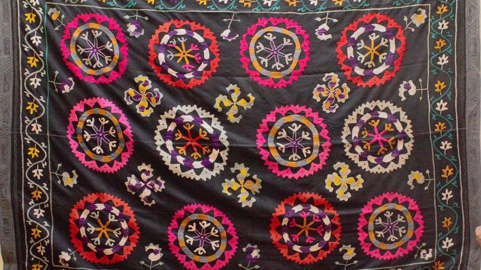 Suzani embroidered wall hanging-large