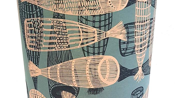 Australian Aboriginal Fabric Lampshade:Fish Traps