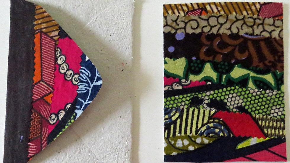 Horizontal Patchwork African Fabric Card