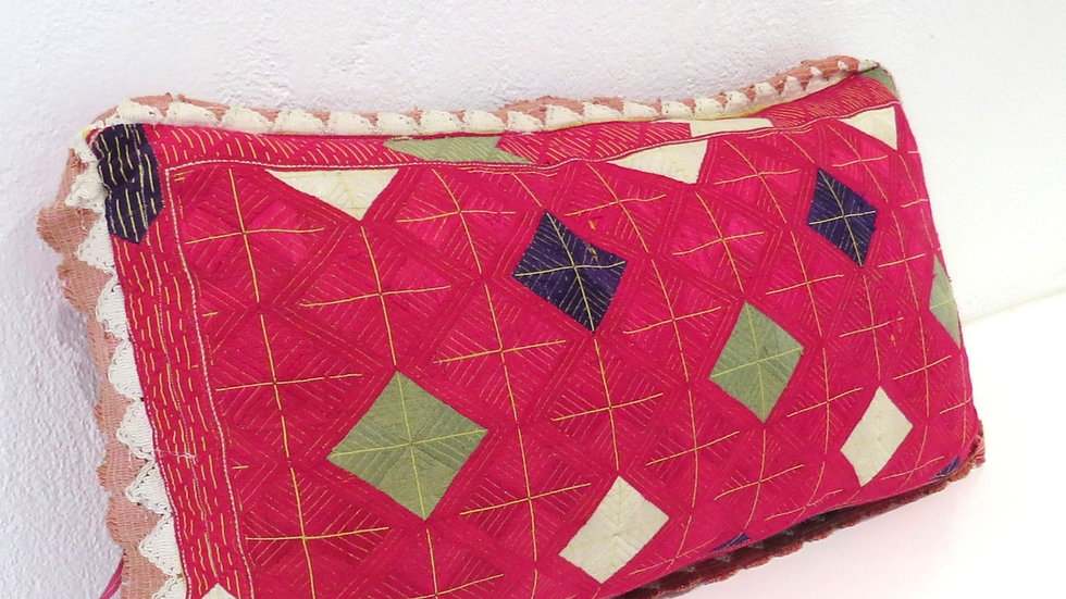 Antique Embroidered Marriage Cushion 2
