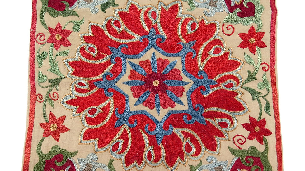 Paisley design suzani embroidered cushion cover