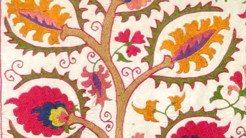 Tree of Life Suzani embroidery