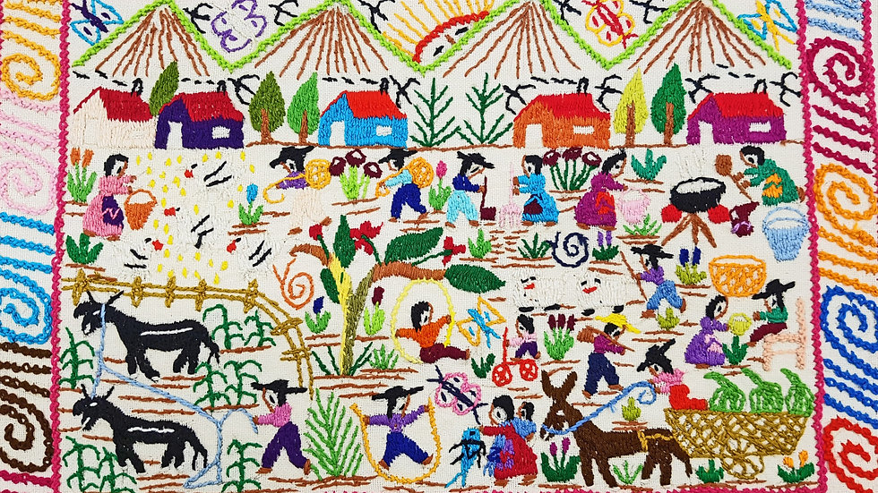 Mexican Village  Embroidery