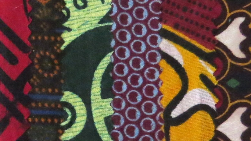 Patchwork African Fabric Card