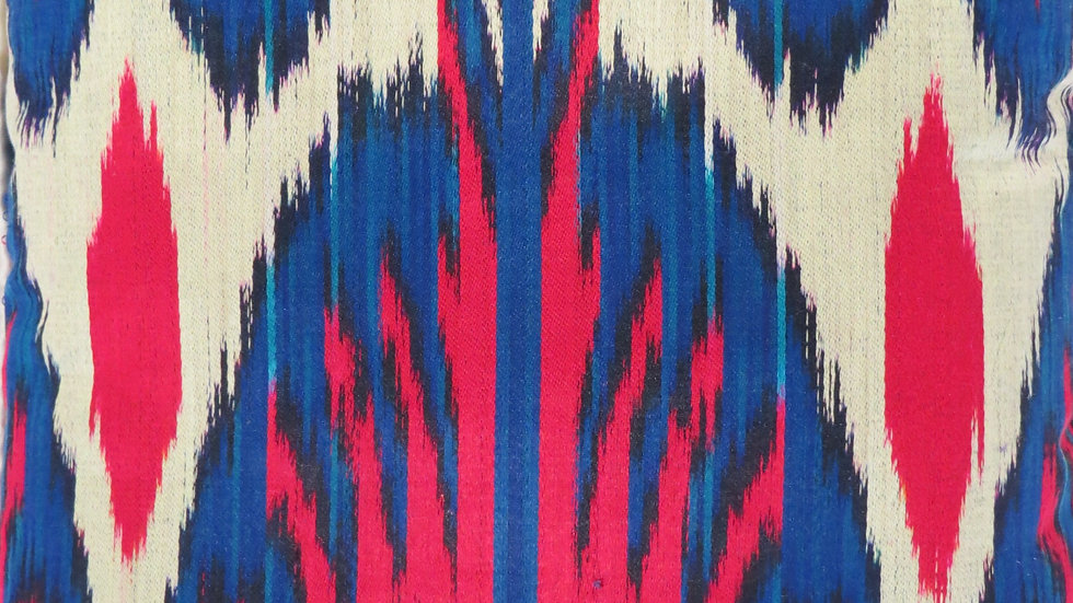Ikat silk satin cushion cover
