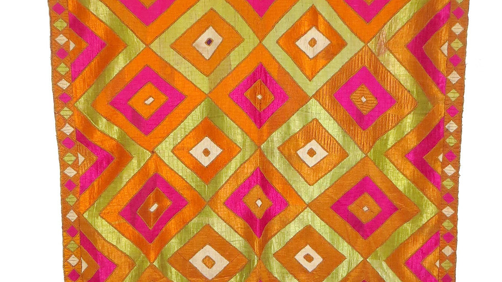 Phulkari embroidered wedding shawl