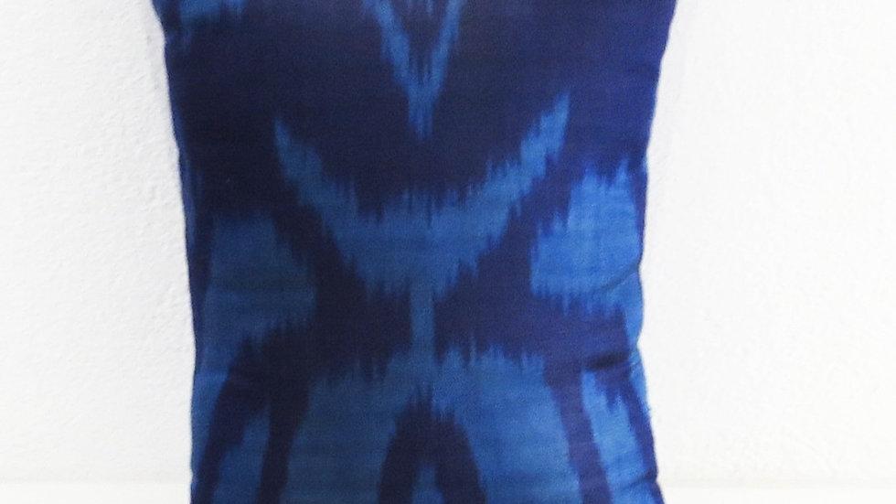 Silk ikat  cushion cover