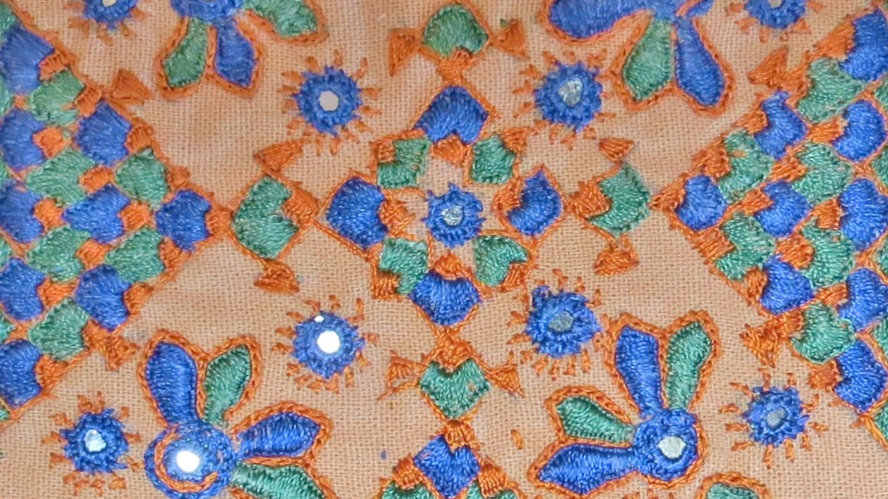 Indian Traditional Hand Stitched Card Q1