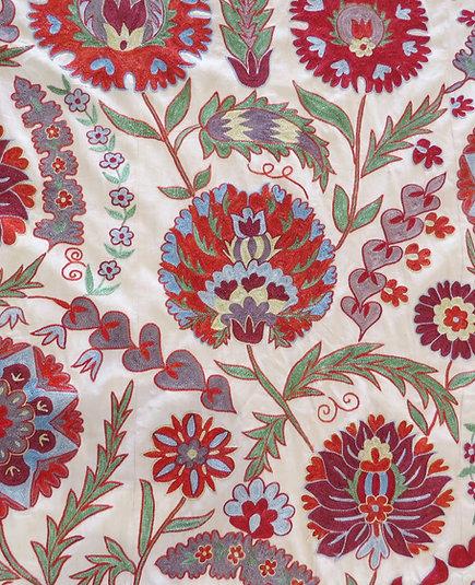 Suzani embroidery from Uzbekistan
