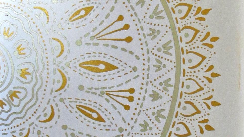 Mandala -hand printed card