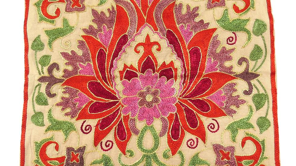Suzani vibrant floral  cushion cover