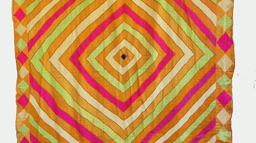 Phulkari embroidered wedding shawl
