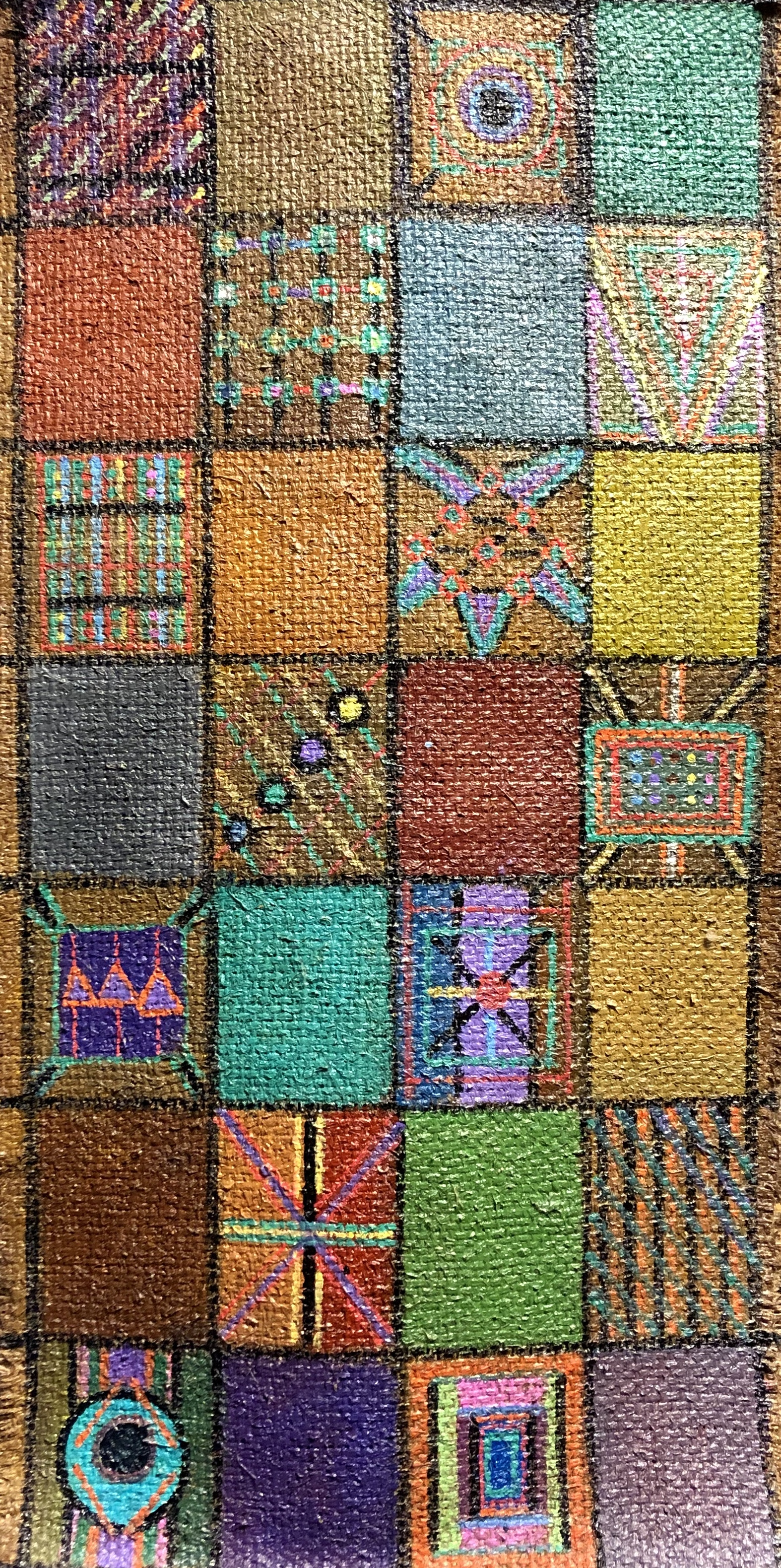 Around the Block 30x15 Burlap