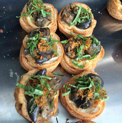 singapore chili escargot in puff pastry