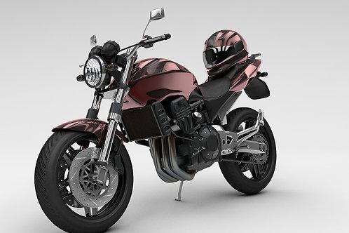 Honda CBF 600 Motorcycle_3D Model