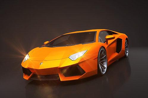 Lamborghini Aventador_C4D Rigged