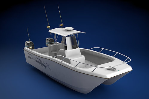 Sea Cat Center Console Outboard Fishing Boat_3D Model