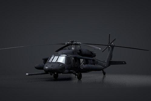 UH-60 Blackhawk SOAR Helicopter 3D Model