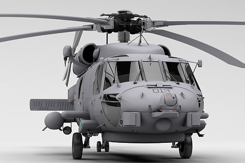 MH-60R_Seahawk_Danish_V13_Simplified_3D Model