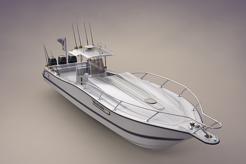 Boston Whaler Center Console Sport Fishing Boat_3D Model