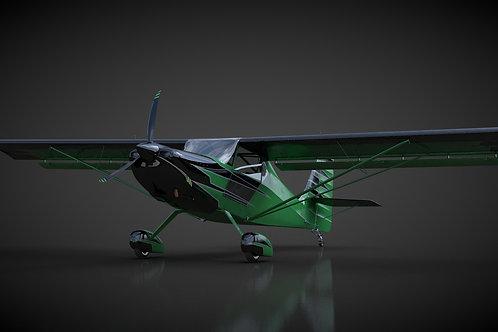 Kit Fox Speedster_3D Model_V14_C4D Rigged
