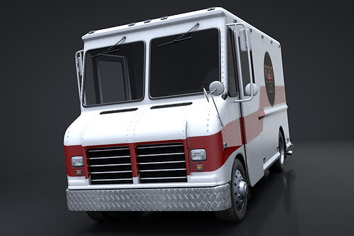 Delivery Truck_V6_C4D Rigged